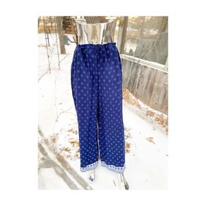 Dalia Palazzo Pants Casual Relaxed Leisure Blue